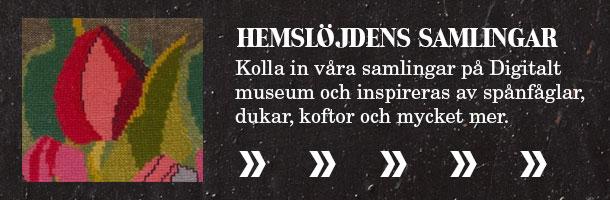 Skaraborgs hemslöjdförening i Hemslöjdens samlingar