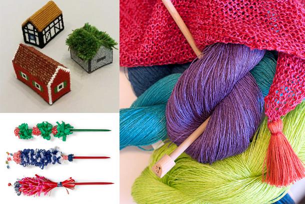 Brodera ett hus, sticka i lin och fixa julens kruspinne!