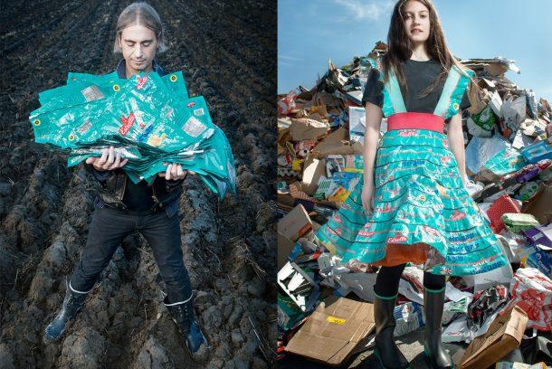 Foton från Johanna Törnqvists konstprojekt Project Precious Trash. Foto: Fredrik Sederholm
