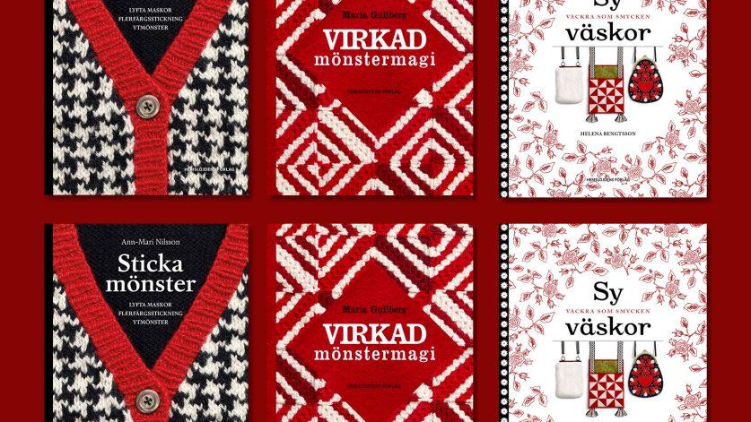 Tre böcker; Sticka mönster, Virkad mönstermagi, Sy väskor