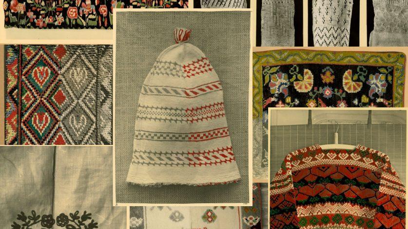 Bildcollage med föremål ur Zickermans studiesamling
