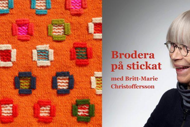 Britt-Marie Christoffersson ohc bild ur boken Brodera på stickat