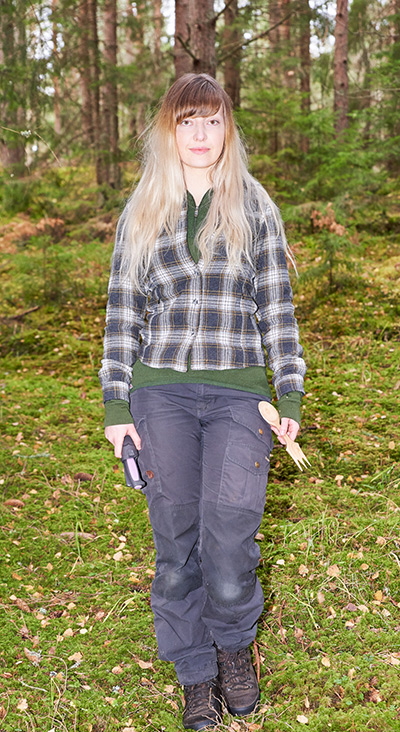 Ida Olsson i skogen