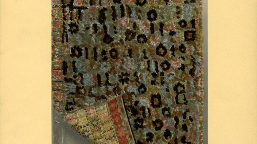 Vävd matta i flossa, en vävteknik som ger kortare och tätare lugg än rya.