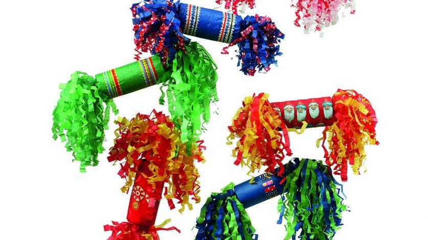 Julens klassiker: Smällkarameller i olika färger