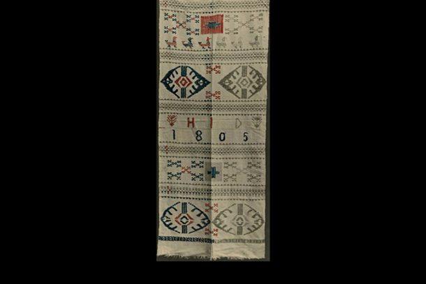 Bild på hängkläde med ögon ur Zickermans Studiesamling