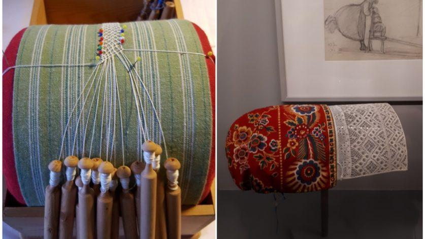 Dalknyppelkudde och Gagnefshätta från Ottilia Adelborgmuseet.