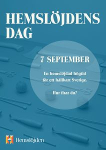 Affisch för Hemslöjdens Dag 2019