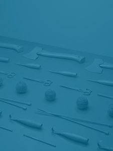 Blå bild med verktygstema