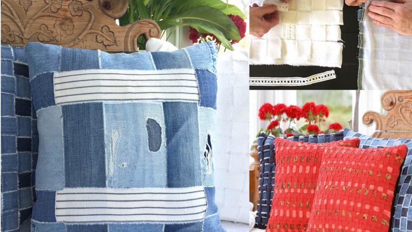 Skapa ett kuddfodral av kära textilier
