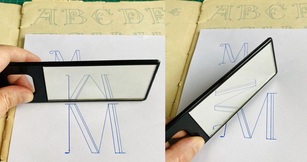 Spegel och monogram