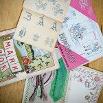 Gamla monogram- och märkböcker
