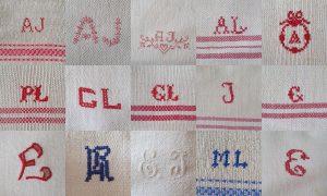 Kollage som visar olika monogram