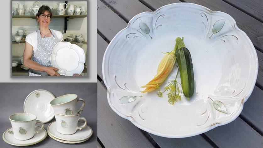 Krukmakare Kajsa Leijström med keramik