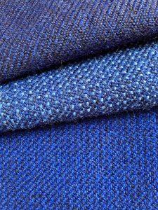 Blåa inrednings- och beklädnadstyger av Gunnel Andersson