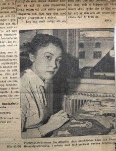 Tidningsurklipp om Elisabet Asp